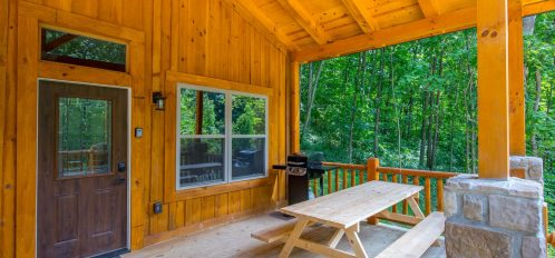 Ash Cave Cabin -Porch