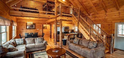 Bear Fork Lodge - Living Area
