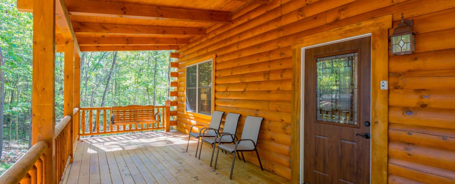 Hidden Creek Lodge - Porch with Sitting Area and Swing