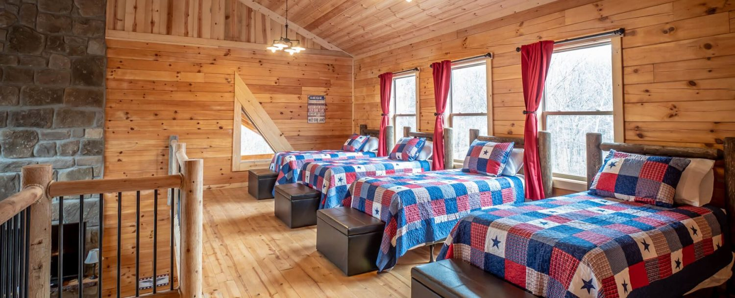 Patriot Lodge - Four Beds in Loft - Wide View